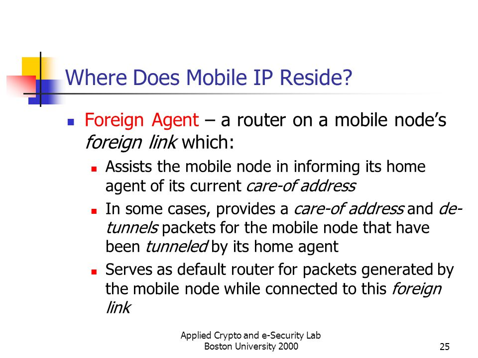Where Does Mobile IP Reside