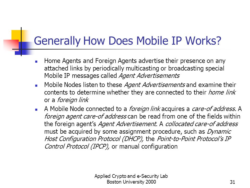Generally How Does Mobile IP Works