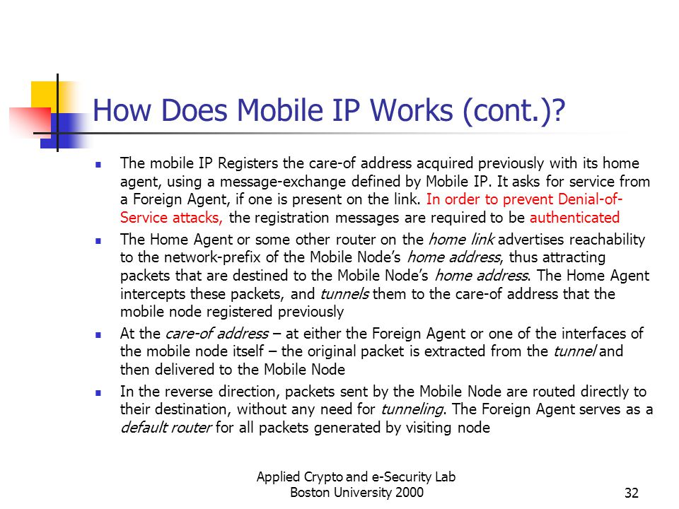 How Does Mobile IP Works (cont.)