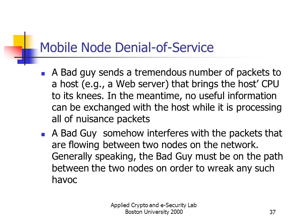 Mobile Node Denial-of-Service
