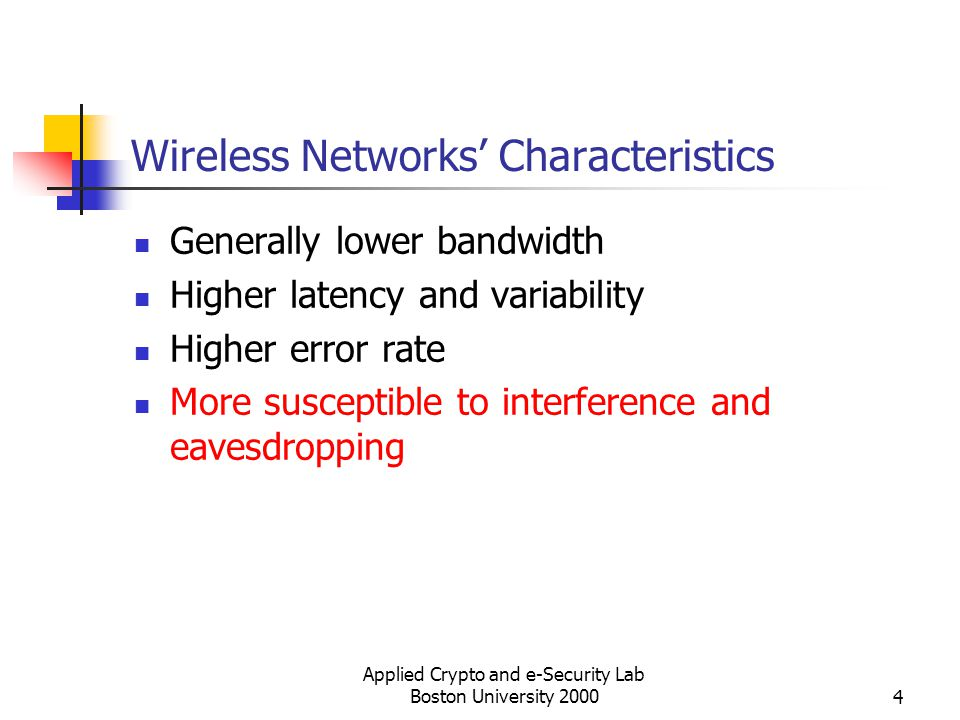 Wireless Networks' Characteristics