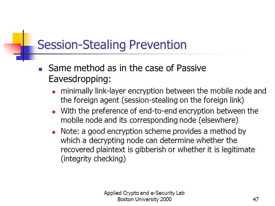 Session-Stealing Prevention