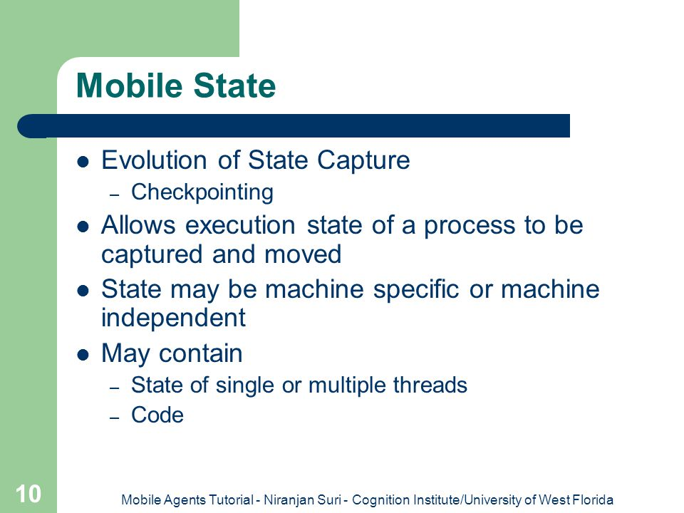 Mobile State Evolution of State Capture
