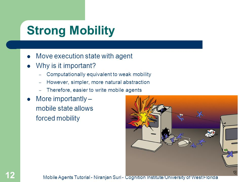 Strong Mobility Move execution state with agent Why is it important