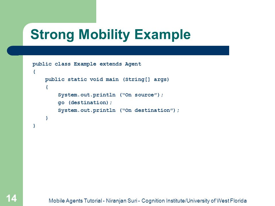 Strong Mobility Example