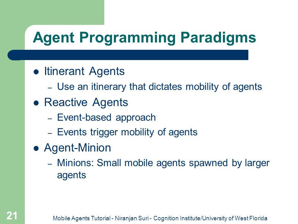 Agent Programming Paradigms