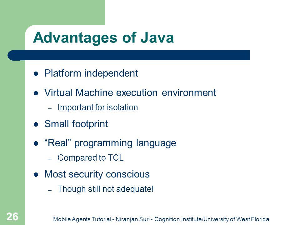 Advantages of Java Platform independent