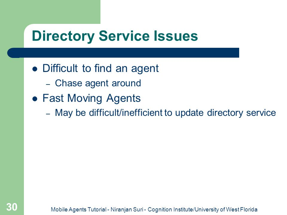 Directory Service Issues