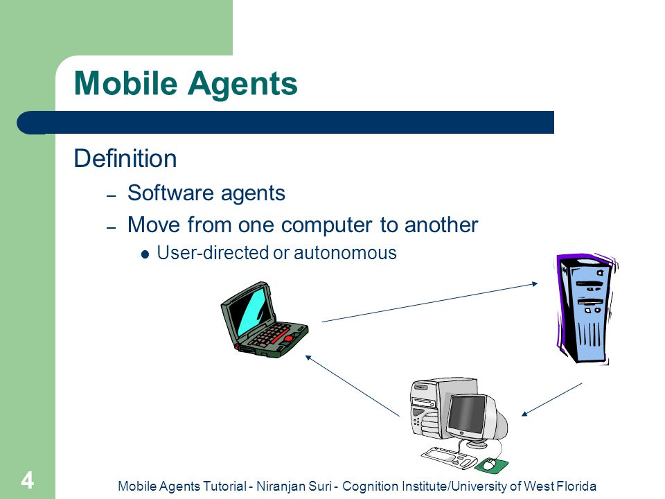Mobile Agents Definition Software agents