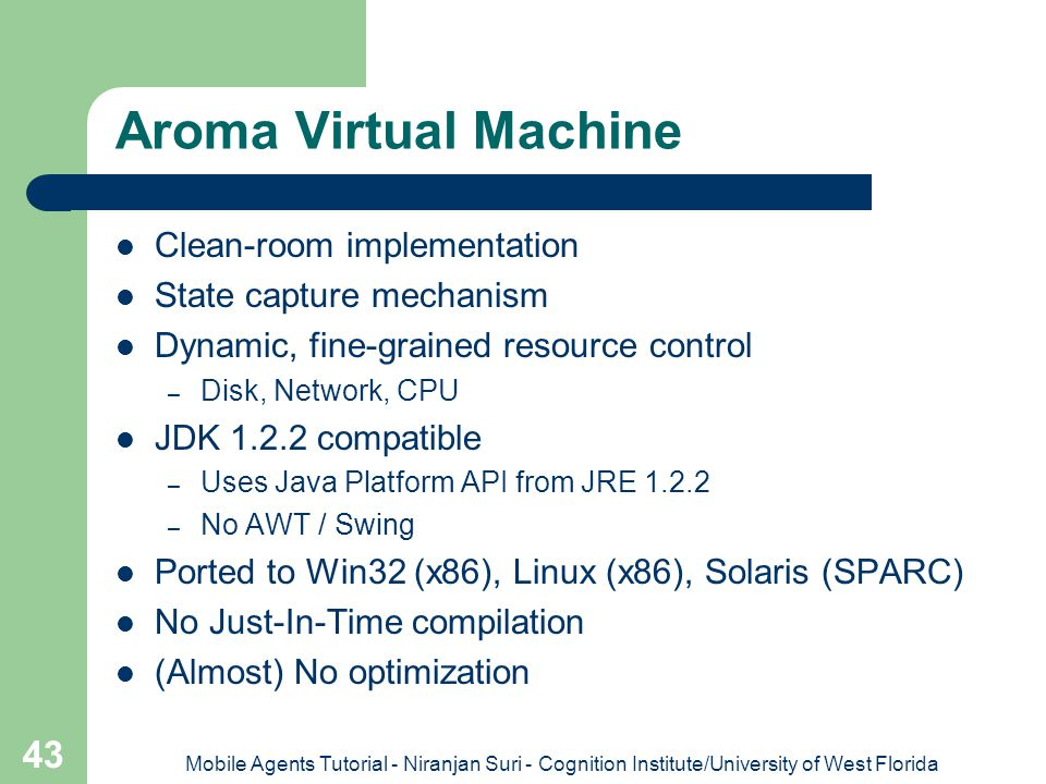 Aroma Virtual Machine Clean-room implementation