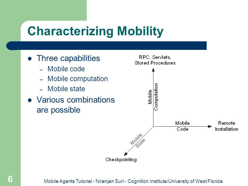 Characterizing Mobility