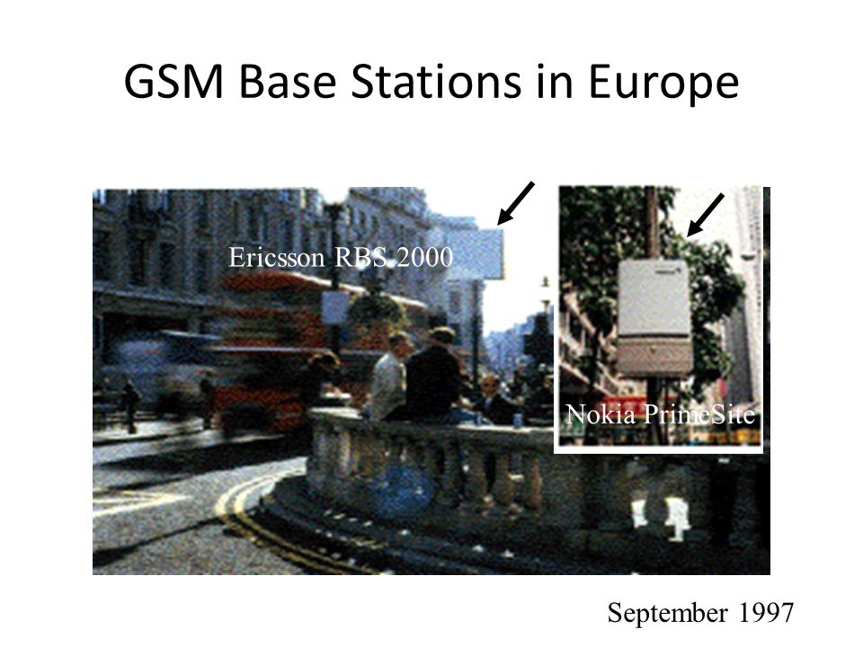 GSM Base Stations in Europe