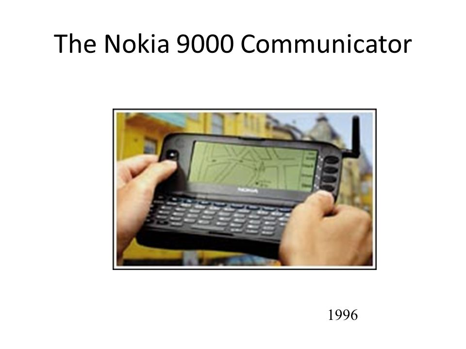 The Nokia 9000 Communicator