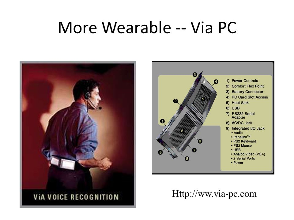 More Wearable -- Via PC