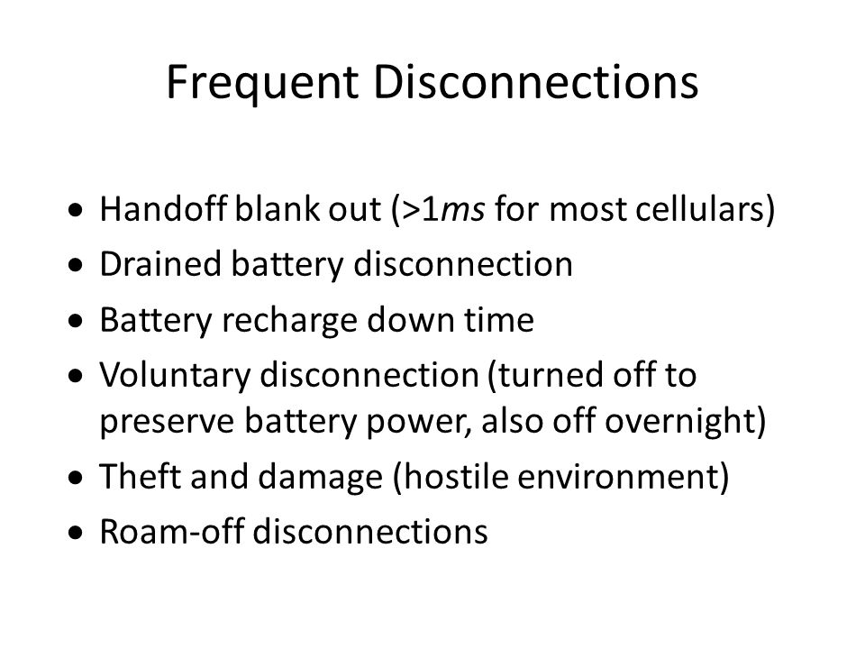 Frequent Disconnections