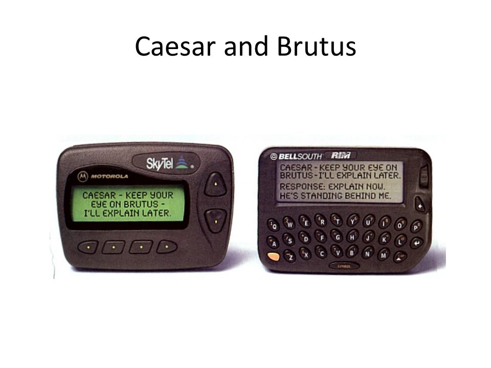 Caesar and Brutus