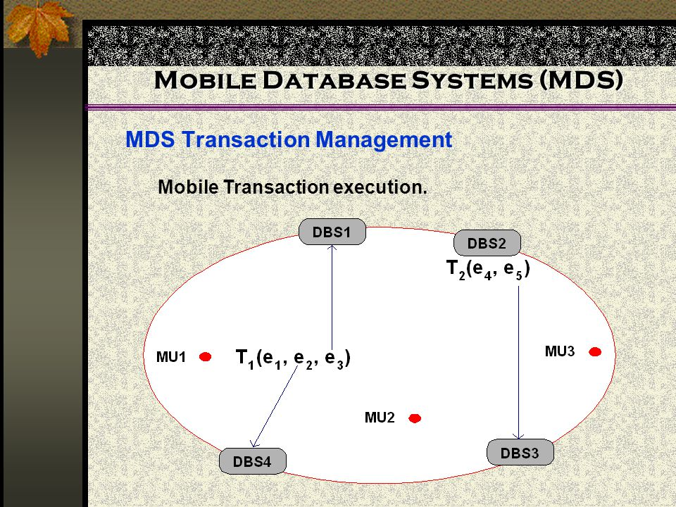 Mobile Database Systems (MDS)