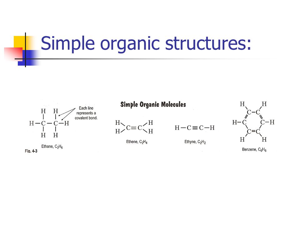 Simple organic structures: