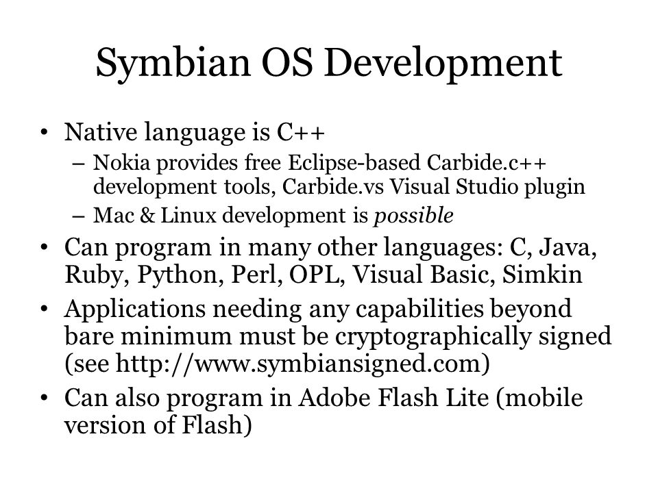 Symbian OS Development