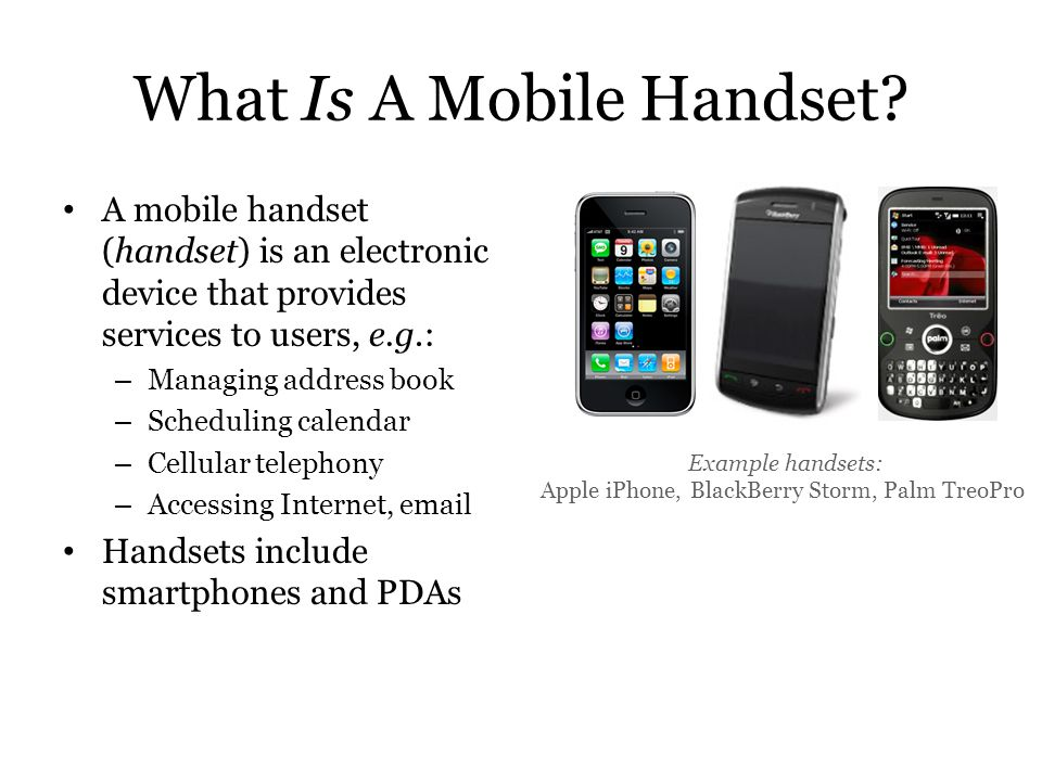 What Is A Mobile Handset