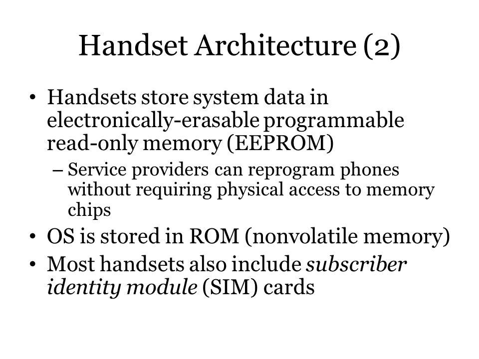 Handset Architecture (2)