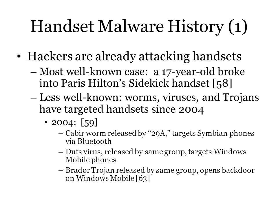 Handset Malware History (1)