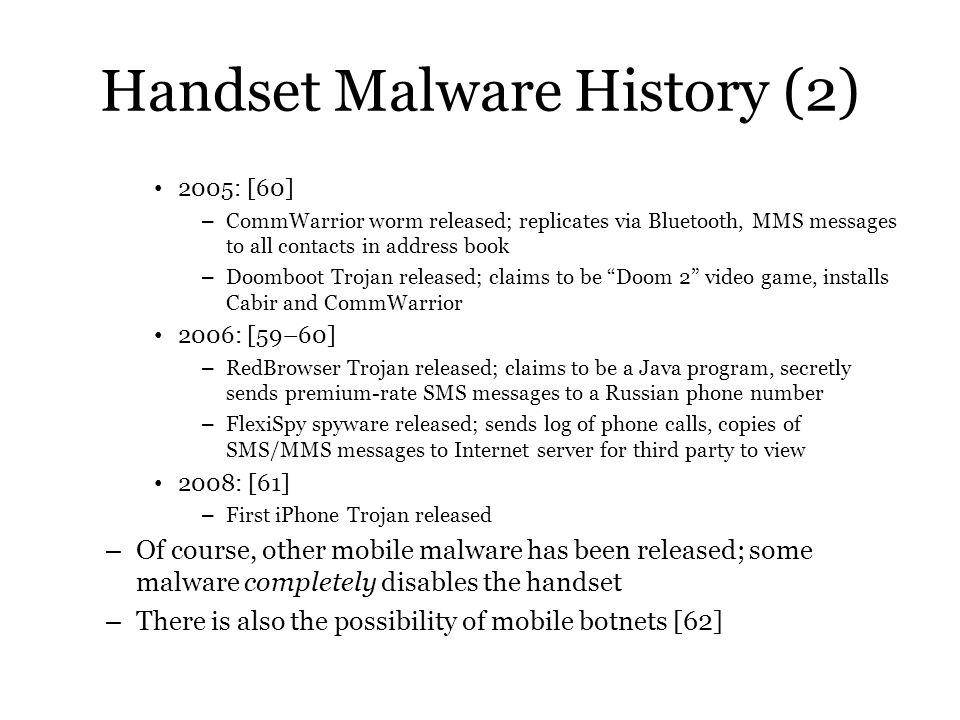 Handset Malware History (2)