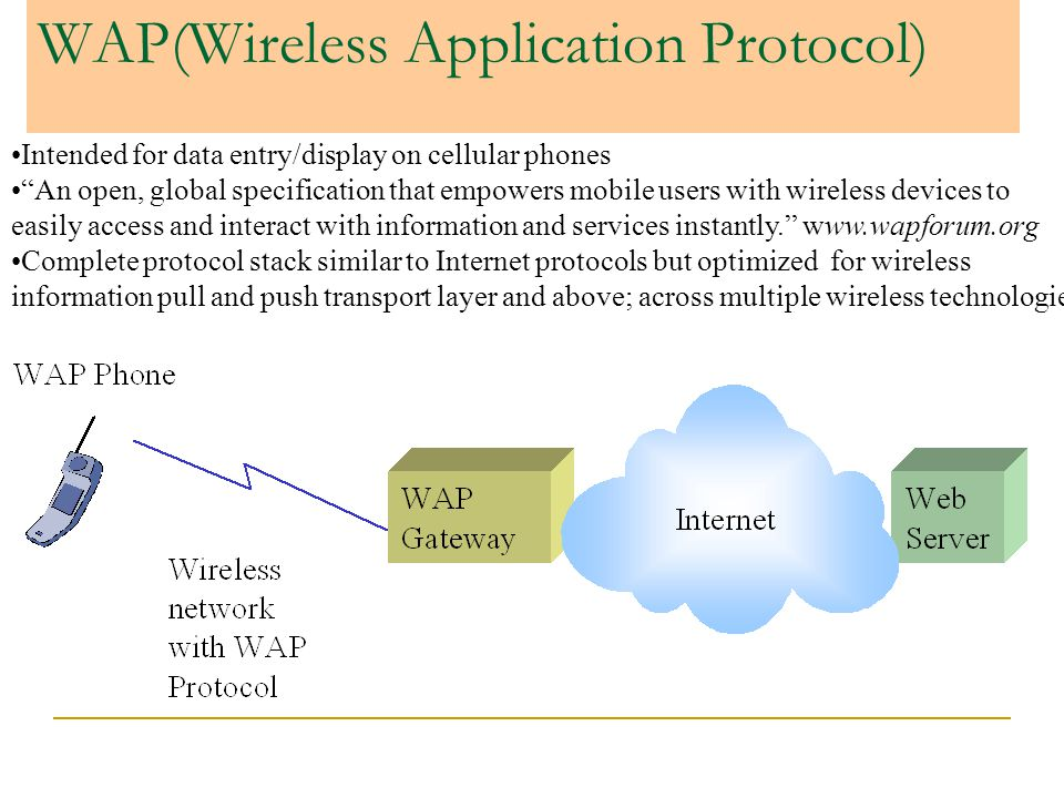 WAP(Wireless Application Protocol)