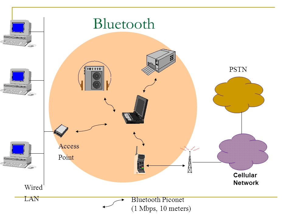 Bluetooth PSTN Access Point Wired LAN Bluetooth Piconet