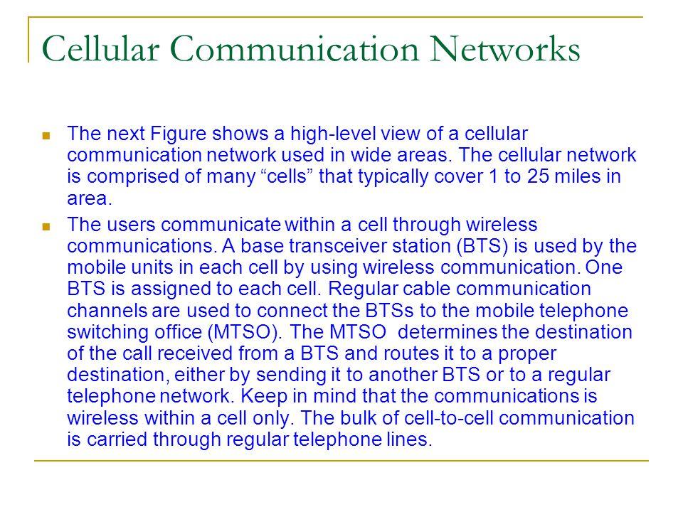 Cellular Communication Networks