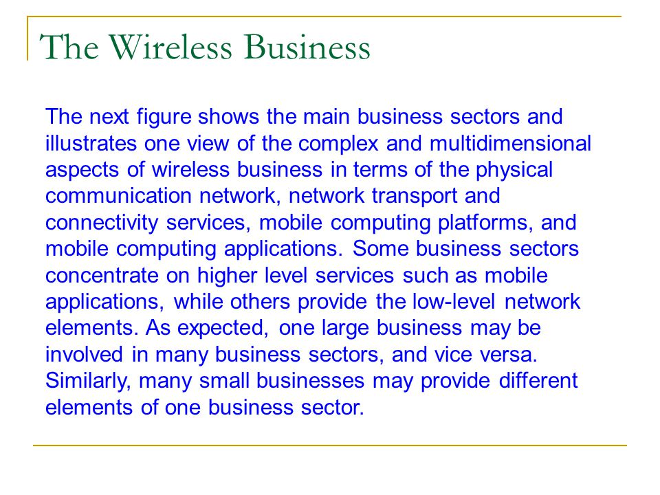 The Wireless Business