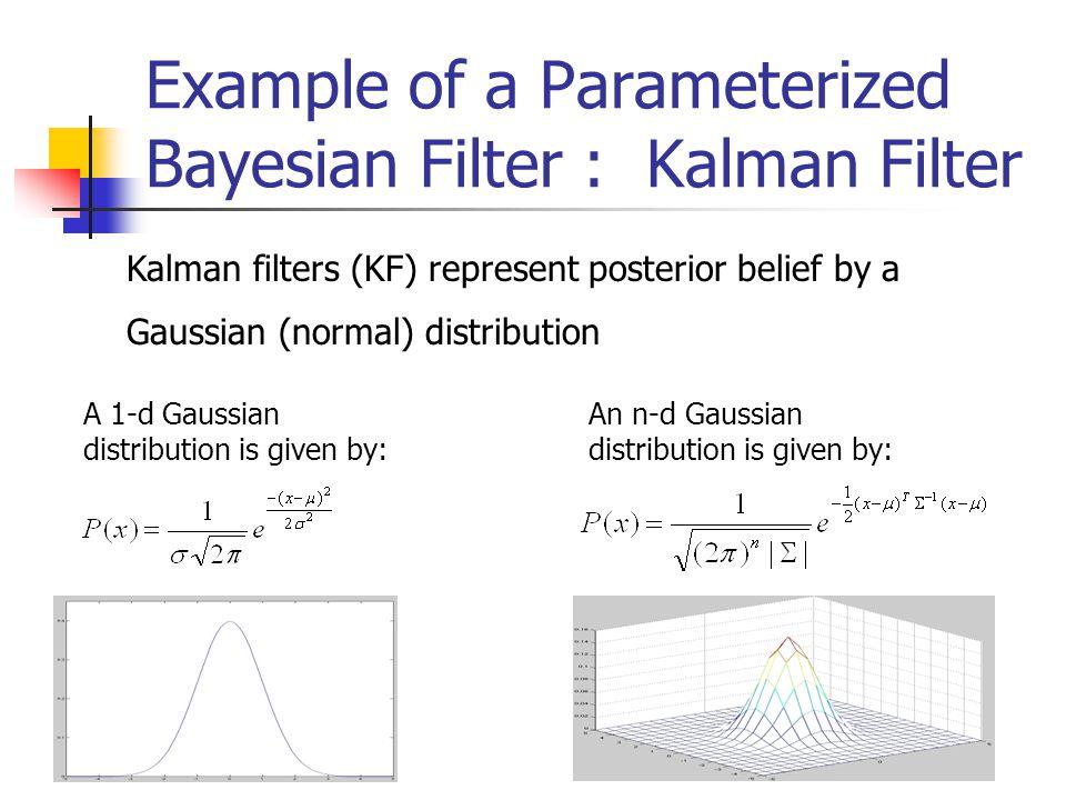 Example of a Parameterized Bayesian Filter : Kalman Filter