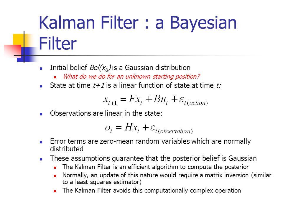 Kalman Filter : a Bayesian Filter