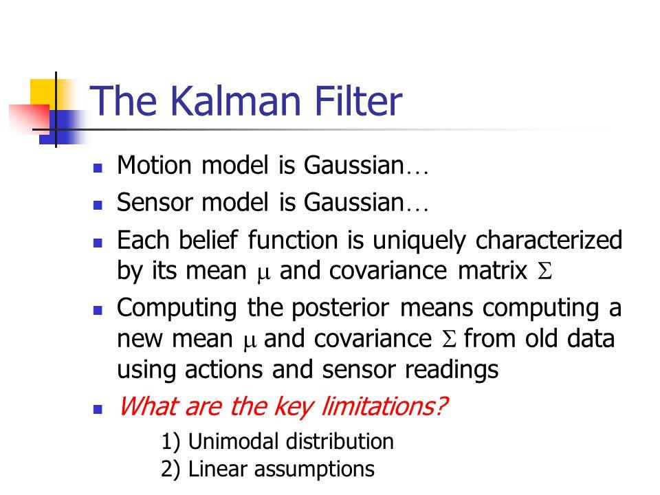 The Kalman Filter Motion model is Gaussian… Sensor model is Gaussian…