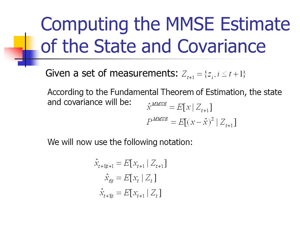 Computing the MMSE Estimate of the State and Covariance