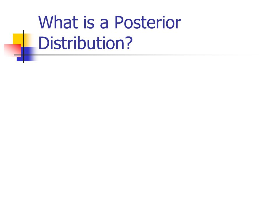 What is a Posterior Distribution