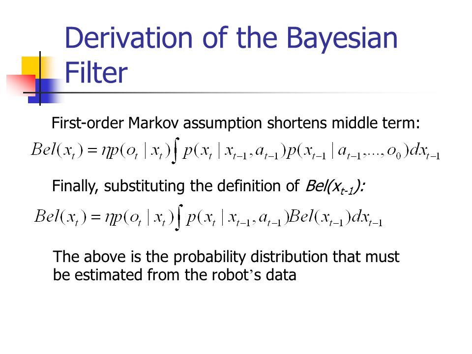 Derivation of the Bayesian Filter