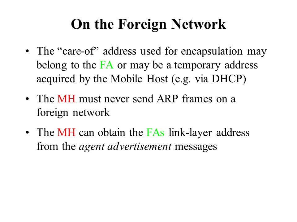 On the Foreign Network