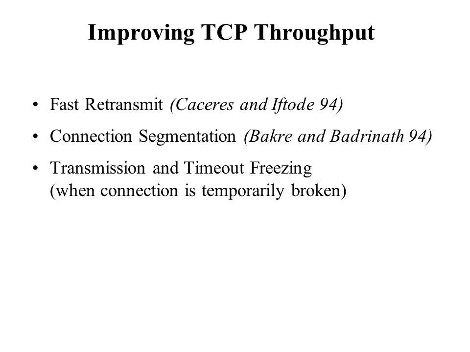 Improving TCP Throughput