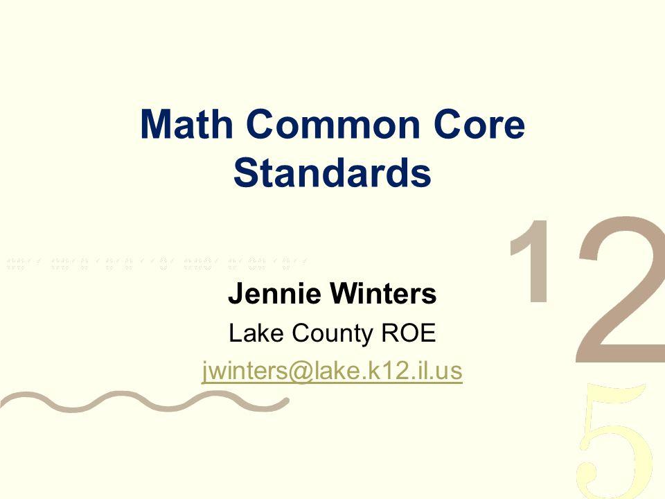 Math Common Core Standards