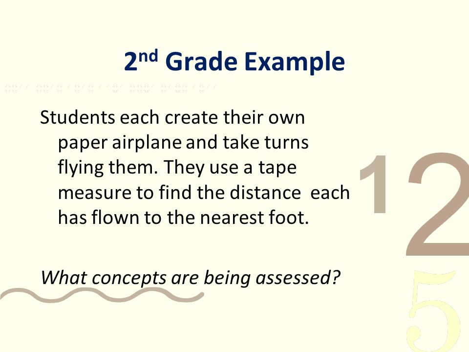 2nd Grade Example
