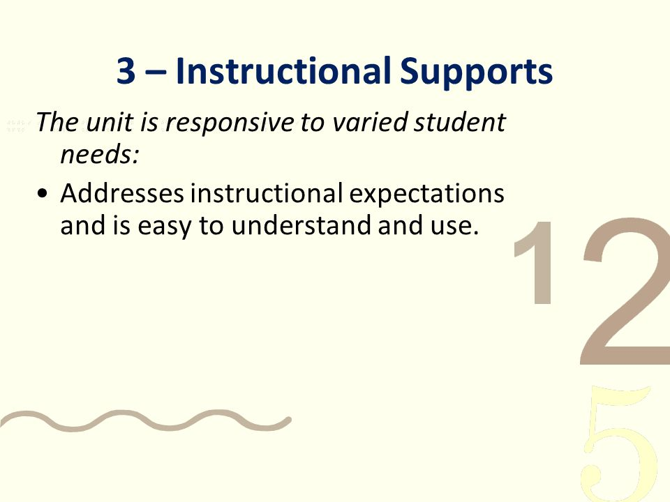 instructional needs of students