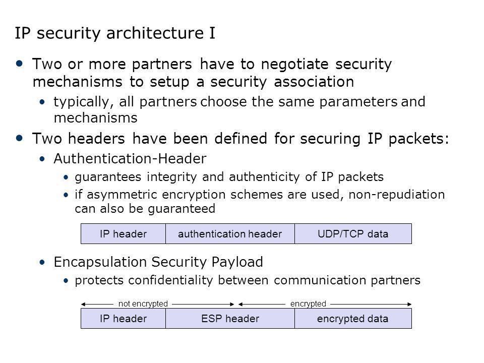 IP security architecture I