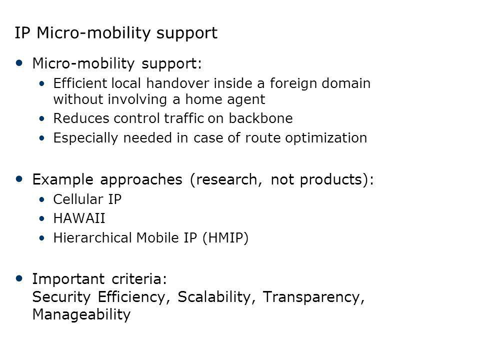 IP Micro-mobility support