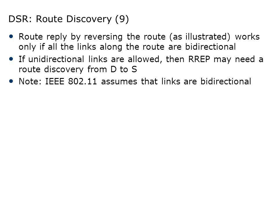 DSR: Route Discovery (9)