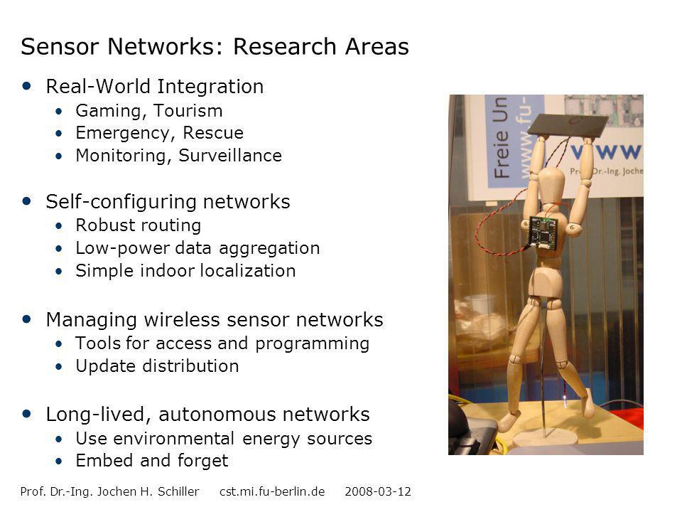 Sensor Networks: Research Areas