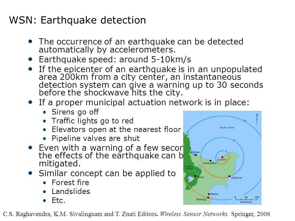 WSN: Earthquake detection