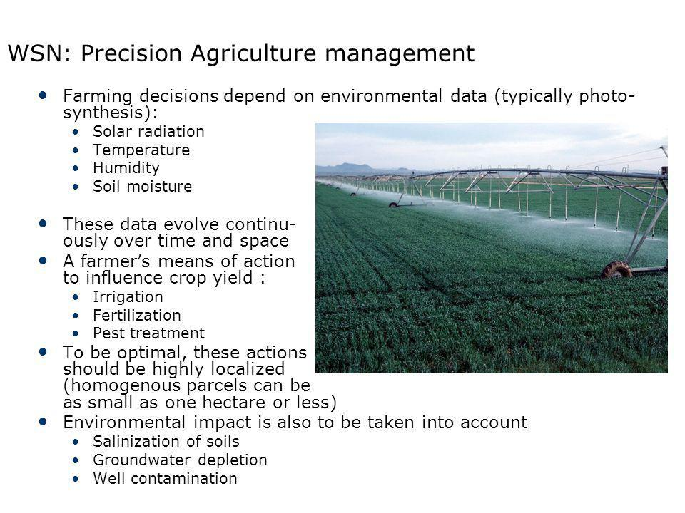 WSN: Precision Agriculture management