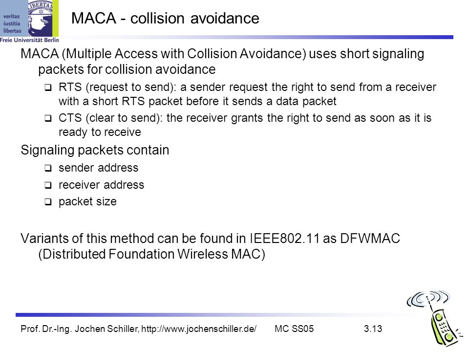 MACA - collision avoidance