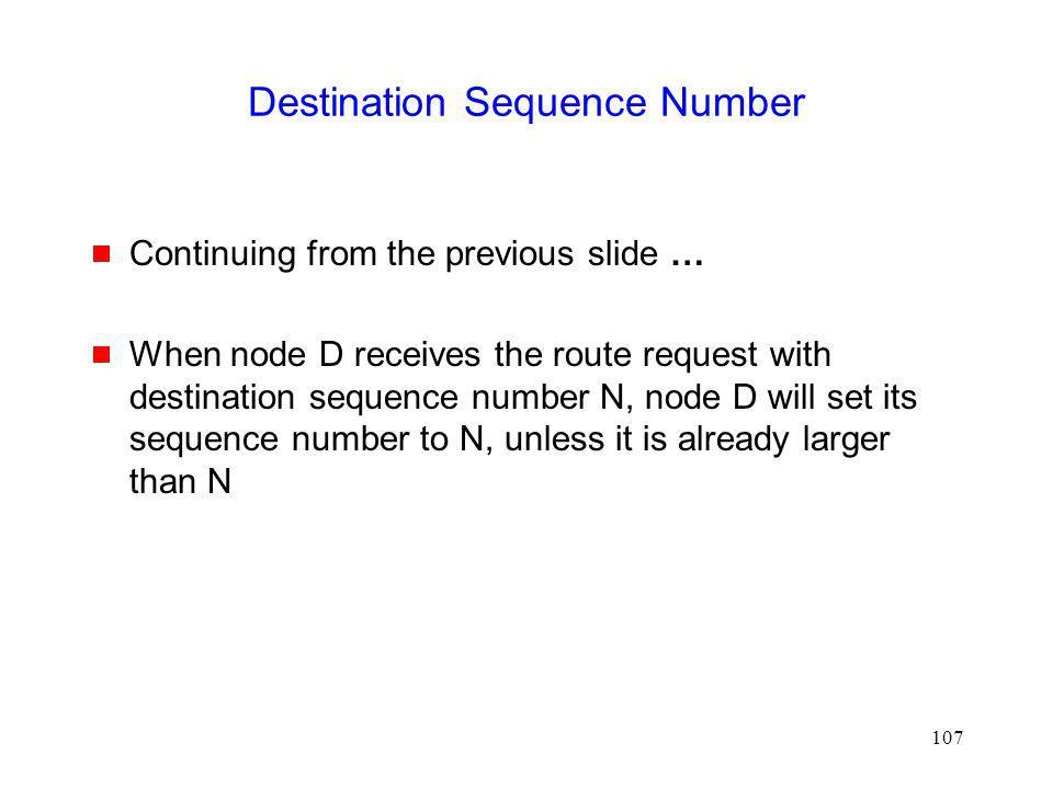 Destination Sequence Number